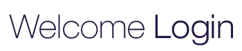 Welcome Login